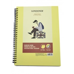 VİNTAGE LABEL A4 PREMIUM YELLOW PAPER EXERCISE BOOK