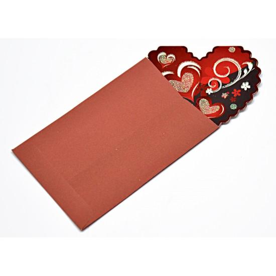 TAROS UNİCK COLOR RED HEART HEDİYELİK KART