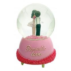 TAROS BÜYÜK  BOY ROMANTİC LOVE KURMALI KAR KÜRESİ
