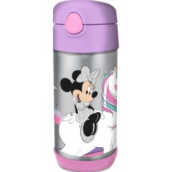 TAROS STORVACUUM INSULATED STAINLESS STEEL BOTTLE WITH STRAW MINNIE UNICORNS ARE REAL