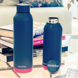 QUOKKA STAINLESS STEEL BOTTLE SOLID PINK VIBE 630 ML