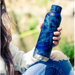 QUOKKA STAINLESS STEEL BOTTLE SOLID DEEP JUNGLE 630 ML