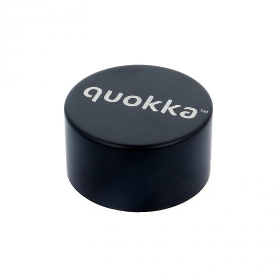 QUOKKA STAINLESS STEEL BOTTLE SOLID JET BLACK 630 ML