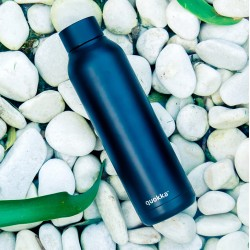 QUOKKA STAINLESS STEEL BOTTLE SOLID JET BLACK 630 ML