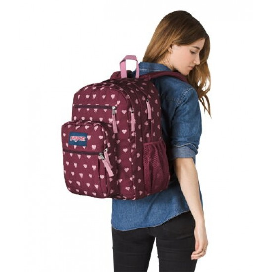 JANSPORT BIG STUDENT R. RED. BLED. HEARTS TDN748X