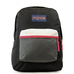JANSPORT EXPOSED BLACK/FLUORESCENT RED A3C4X4B7